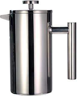 De Franse pers Coffee Verwarming Filter Pot Double Layer RVS koffie- en theefaciliteiten Franse pers Behoud van de hitte M...