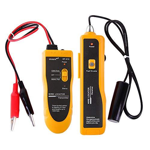 Noyafa NF-816-D Localizador de cables subterráneos y buscador de roturas para alambres...