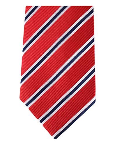 Rosso / Blu / Bianco Regimental a righe Cravatte di David Van Hagen