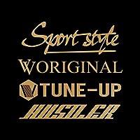 Sport style mix ハスラー カッティング ステッカー ゴールド 金