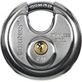 Brinks 663-70001 70mm Stainless Steel Commercial Discus with Boron Shackle