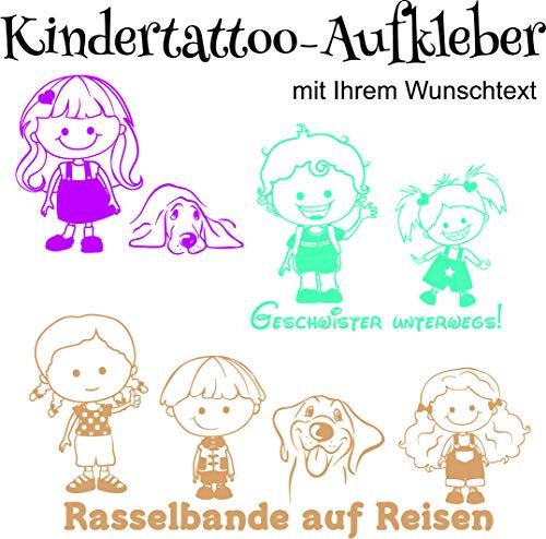 NEU Baby/Kinder - Autoaufkleber ***14 Kinder + 3 Hunde Motive zur Auswahl inkl. Wunschtext, Schrift und Farbauswahl
