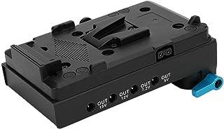 EL15 z pełnym dekodowaniem atrapa baterii, wirtualny adapter płyty akumulatora V-Mount z zaciskiem 15 mm z podwójnym otwor...