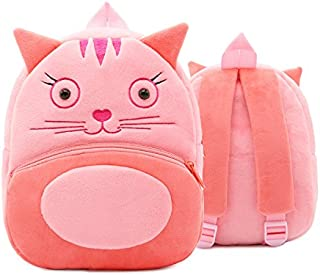 Cute Toddler Backpack,Cartoon Cute Animal Plush Backpack Toddler Mini School Bag for Kids Age 2-5 Years Old(Cat)
