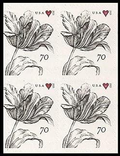 Vintage Tulip Block of Four 70 Cent Stamps Scott 4960