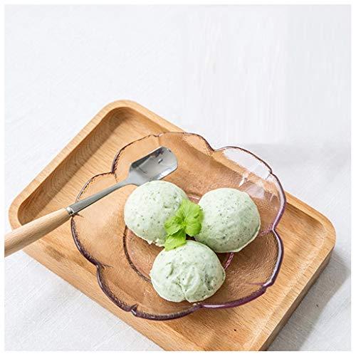YYF Cerise rose en verre plat irrégulier snack/plat froid/fruit/dessert/fruits secs 3-5,5 pouces (Taille : 8.7cm)