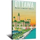 Canada Vintage Reise Ottawa Poster Leinwand Kunst Poster