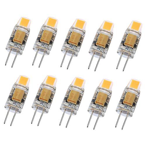 10 bombillas LED G4 regulables de CA CC 12 V LED COB lámpara LED de 3 W COB LED de iluminación reemplaza foco halógeno, natural
