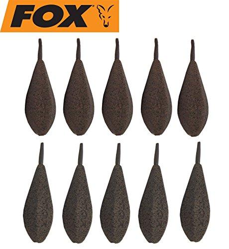 FOX Horizon Inline Leads Bleie Karpfenbleie Blei 10 Inlinebleie, Angelblei für Karpfenmontagen, Gewicht:85g