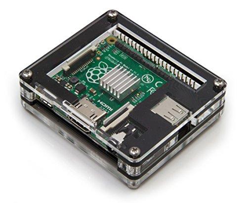 C4Labs Zebra Case–Raspberry Pi A + (Black Ice)