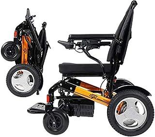 Silla de ruedas eléctrica for adultos, plegable compacta Silla de ruedas eléctrica Deluxe Potente doble Movilidad silla de ruedas eléctrica Ayuda Motor - pesa sólo 50 libras con la batería - Soporta 3