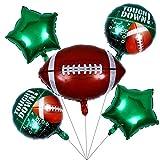 ABOOFAN 5 Pcs Football Fête d'anniversaire Ballons Rugby Latex Ballons Feuille D'aluminium Ballons Football Fête d'anniversaire Décoration Fournitures