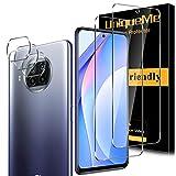 [2+3 Pack]UnqiueMe 2 pack Schutzfolie Kompatibel mit Xiaomi Mi 10T Lite Panzerglas & 3 pack Kamera Folie Schutz,[Maximale Reichweite] [Blasenfrei] Bildschirmschutz HD Klar gehärtetes Glas