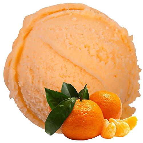 Mandarine Geschmack 1 Kg Gino Gelati Eispulver für Fruchteis Softeispulver Speiseeispulver