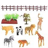 TOYMYTOY Modelos de Animales Realistas Figura de Animales de La Selva Mini Animales de Plástico Salvaje Juguetes Kit de Regalo para Niños Cumpleaños/ Navidad/ Vacaciones Hobby