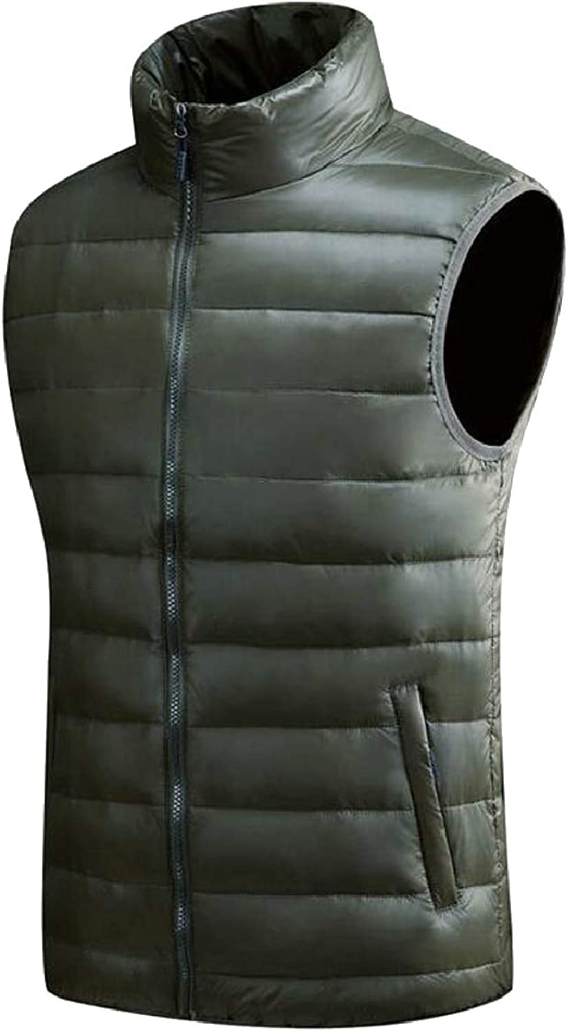Tymhgt-CA Men Warmer Down Puffer Vest Zipper Lightweight Jacket