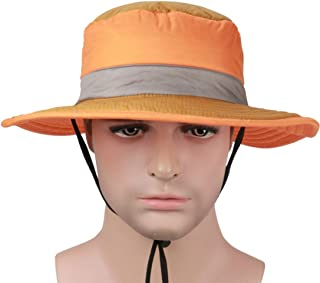 Hats The Spring and Summer Season Pure Color Sun Visor Hat Outdoor Big Along The Fisherman's Hat Fashion (Color : Orange)
