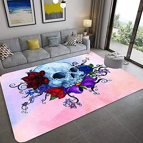 Modern 3D-Druck Realistischer Teppichboden, 3D optischer Illusionsbereich 3d, Weiche Teppich Wohnzimmer Schlafzimmer Non-Rutsch Runnerteppich Wohnkultur Türmatte-A 31x47inch (80x120cm), L, 48x72inch (