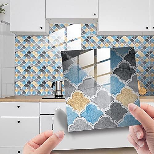 Agleta Autoadhesiva Etiqueta Engomada 3D Cocina Cuarto De Baño Etiqueta De Pared Decoración De La Decoración Auto Adhesivo Decoración-10 X 10Cm X 10Pcs