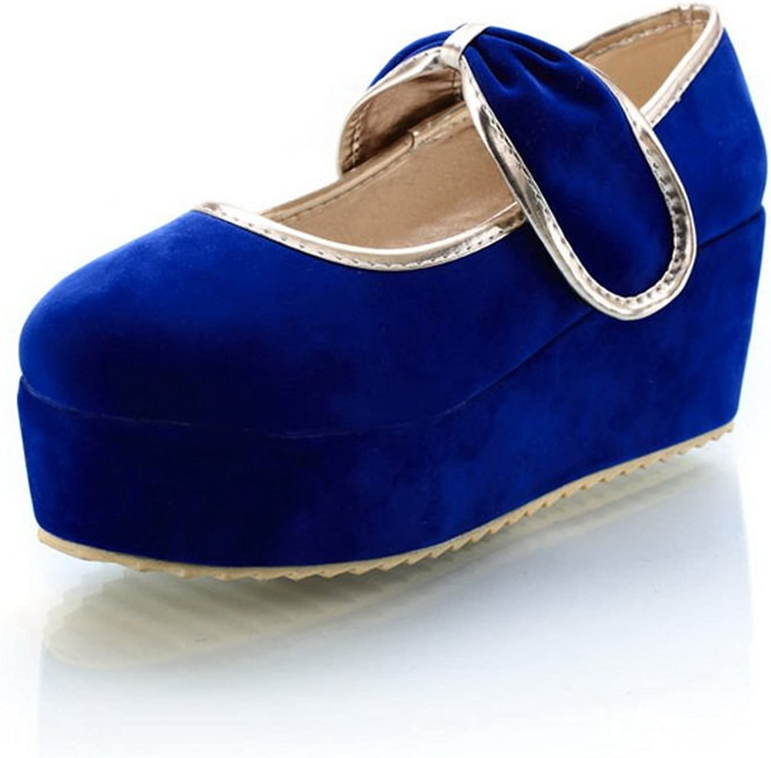A&N Womens Platform Hook-And-Loop Round-Toe Urethane Flats-shoes