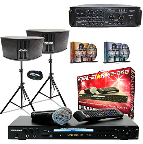 Vocal- Star Complete Karaoke Party Set including Bluetooth & 1200 Songs,  [Importado de UK]