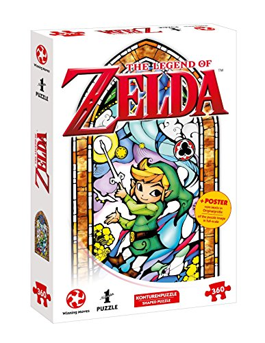 Winning Moves- Number 1 Puzzle-Zelda Link-Wind Waker (360 Teile) Accessori, Multicolore, 11361