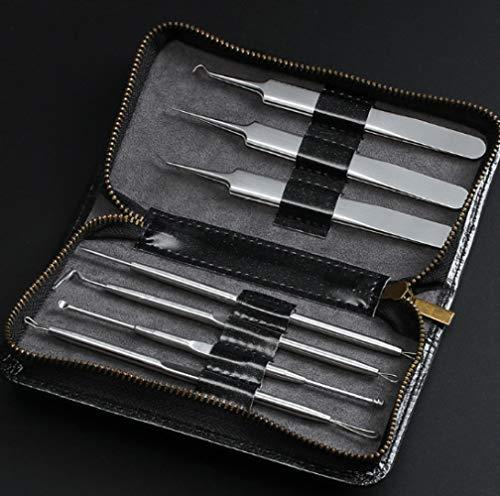 Mee-eter Remover Tool Kit,Facial Puistje Removal Tools Smet Extractor Acne Naald Clip Pincet Set,Gezicht Huidverzorging Gereedschap 7st