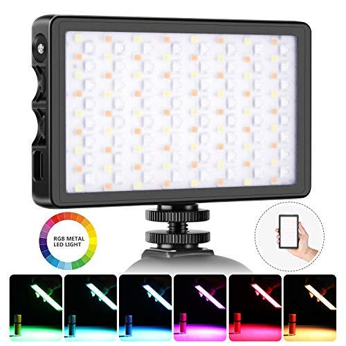 Neewer SL-140 RGB Luce LED a Colori Ricaricabile Tascabile per Reflex Videocamere CRI97 2500-9000K 0-360 Colori Regolabili 20 Condizioni Applicabili Guscio in Lega di Alluminio con Attacco Magnetico