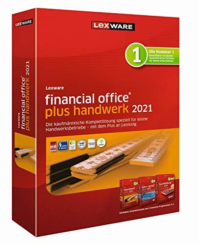 Lexware financial office plus handwerk 2021 (Jahreslizenz)|Einfache Buchhaltung, Lohn- und Gehaltsabrechnung sowie Auftragsbearbeitung speziell für Handwerksbetriebe|Plus|1|1 Jahr|PC|Disc