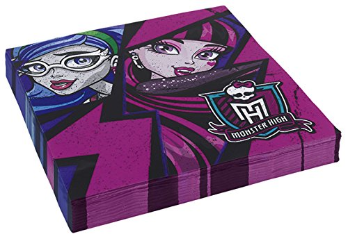 Generique - 20 Serviettes en Papier Monster High 2 33 x 33 cm