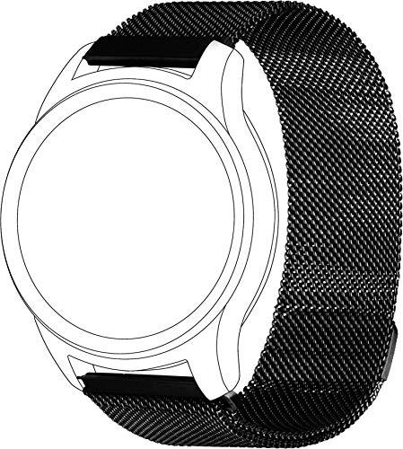 topp - Mesh Armband für Garmin Vivomove/Vivoactive3, Schwarz