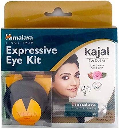 Himalaya Expressive Kajal 2.7 gm & Wipes Combo Pack + Vega compac product image