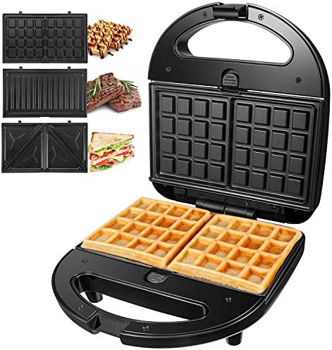 OSTBA Sandwich Maker 3 in 1 Waffle Iron 750W Panini Press Grill with 3 Detachable Non stick product image