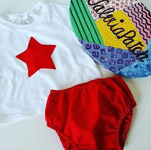 Cubrepañal tela rojo basic y posibilidad de añadir camiseta a ...