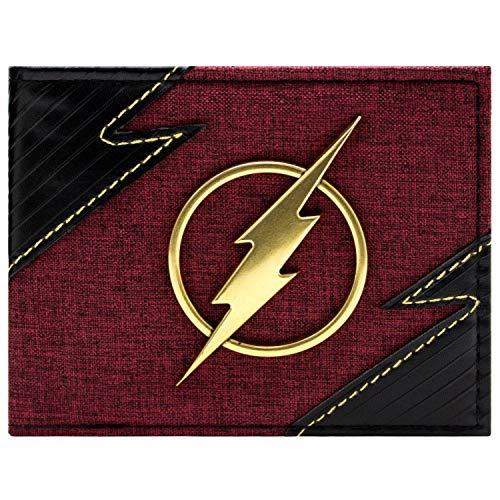DC Flash schick Machen Goldabzeichen Portemonnaie Geldbörse Rot