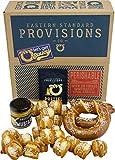 Eastern Standard Provisions: Let's Get Saucy Gourmet Soft Pretzel Pack - Freshly Baked Handcrafted Premium Artisanal Soft Pretzel Snacks - 1 Variety Pack with 1 Jar Sauce and 1 Salt Pack