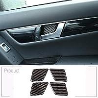 車の柔らかい炭素繊維車のインテリアドアボウル装飾ステッカーに適していますメルセデスベンツCクラスW204 2007-2013
