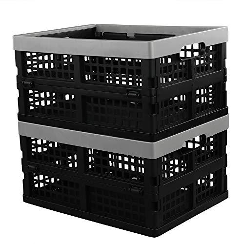 Neadas Faltbare Aufbewahrungsbox Profi Klappboxen Klappkisten Faltbar Stabil, Grau, 2 Stück