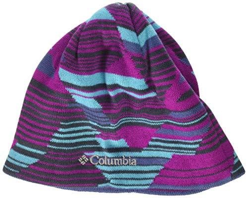 Columbia Enfant Bonnet, Toddler/Youth Urbanization Mix Beanie, Acrylique, Violet (Bright Plum Geo Lines), Taille S/M, 1570691