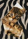 MengCプリンセス甘ロリ原宿トップショップ (topshop) のヴィンテージ猫パイル靴下プリント綿の靴下ロンパース amo たたくグリモア soks KCW038,ブラウン