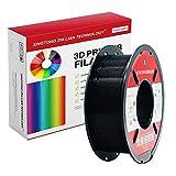 PLA Filament 1,75 mm,Impression 3D Filament PLA Pour Imprimante 3D et Stylo 3D,Précision Dimensionnelle +/- 0,02 mm,1 kg 1 Bobine(Noir)