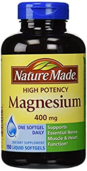 Nature Made High Potency Magnesium 400 mg - 150 Liquid Softgels Pack of 2