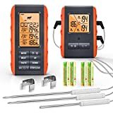 Wireless Meat Thermometer for Grilling Smoking - Remote Cooking Thermometer with 3 Probes - Monitor...