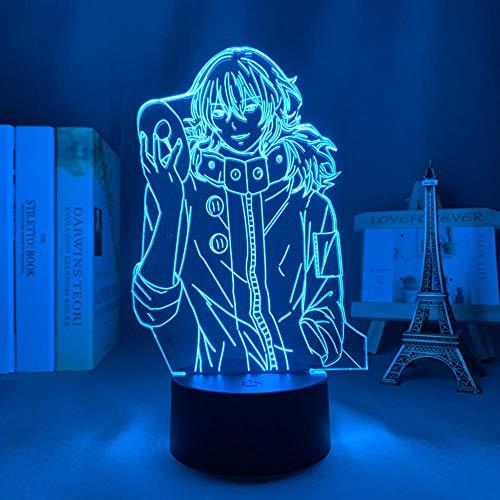LUOXIA - Lámpara de noche 3D LED de anime, lámpara 3D, lámpara de mesa con Ayato Kirishima Light para niños, decoración de habitaciones, para cumpleaños, regalo, Tokyo Ghoul