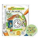 tiptoi Ravensburger Buch - Mein Lern-Spiel-Abenteuer   Uhr und Zeit + ABC Kinder Werbesticker von Collectix