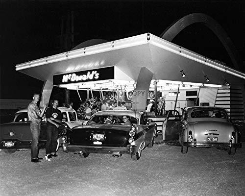 bucraft Erster McDonald's Eröffnet von RAY KROC im Jahr 1955 des Plaines IL, 20,3 x 27,9 cm (FB-467)