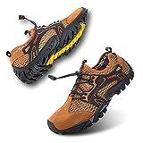 Zapatillas de Trail Running Hombre Barefoot Zapatos de Agua Surf Escarpines Buceo Piscina Playa Trekking Deportes Secado Rápido Marrón-1 44 EU