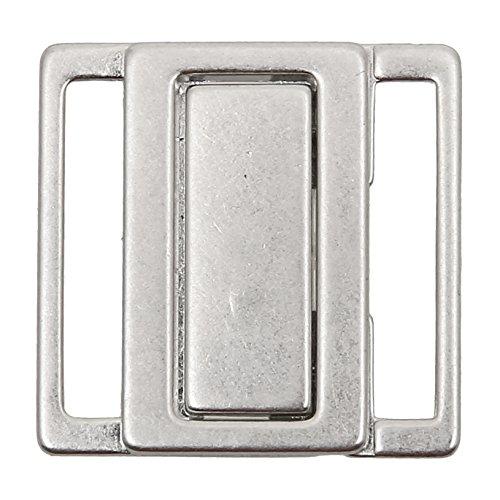 Großhandel für Schneiderbedarf Bikiniverschluss Metall Silber 30mm Stegbreite