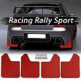 LLKLKL Ensemble Voiture Garde-Boue pour Hyundai Tucson Elantra Car SUV Van Pickup Rally Avant Arrière Pare-Boue Anti-Éclaboussures Accessoires (2 Pcs/4Pcs),4pcs Set Red