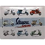 Nostalgic-Art Cartel de Chapa Retro Vespa – Model Chart – Idea de Regalo para los...